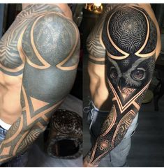 Which arm do you prefer! Give you comments. For see more of fitness life images visit us on our website ! Tribal Sleeve Tattoos, Black Ink Tattoos, Tattoo Sleeve Designs, Body Art Tattoos, Tattoo Ink, White Over Black Tattoo, Black Tattoo Cover Up, Cover Up Tattoos, Original Tattoos