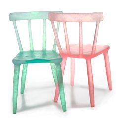 Kim Markel Glow Chairs Reclaimed Glasses And Lunch Trays Give These Chairs Their Ethereal Glow | Co.Design | business + design