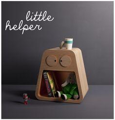 Je hebt nachtkastjes en nachtkastjes waar je vrolijk van wordt. Little Helper is een echte musthave voor designfreaks in de dop. Want zeg nou zelf: wie wil er nu niet zon gezellig vriendje met lichtgevend oogjes naast zijn ben hebben staan! Little