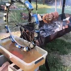 Homemade Grill, Diy Grill, Barbecue Design, Grill Design, Outdoor Food, Outdoor Cooking, Farm Projects, Welding Projects, Bar B Que Grills