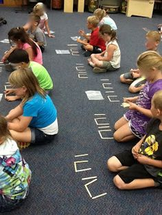 Using popsicle sticks to make ta and ti-ti! Introduction to rhythmic dictation. V's Crazy Music Classroom: Ta Ti-ti kind of day. Kindergarten Music, Teaching Music, Student Teaching, Teaching Ideas, Rhythm Ta, Music Classroom, Classroom Ideas, Music And Movement, Elementary Music