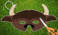 Buffalo Halloween or Party Mask  Printable PDF by theRasilisk, $3.99