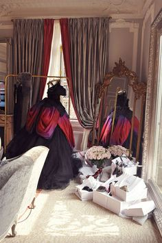 Hôtel Plaza Athénée, Paris.  This is exactly how I get dressed in the morning.