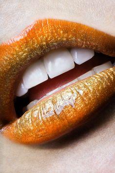 Photo Orange Lips par stéfan bourson on Lipstick Art, Lip Art, Lipsticks, Orange Lipstick, Exotic Makeup, Candy Lips, Gold Lips, Ombre Lips, Kissable Lips