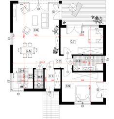Dom modułowy CONTi3. Dom z modułów, paswyny. CONTiBOX Floor Plans, Diagram, Houses, Floor Plan Drawing, House Floor Plans