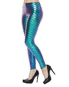 e86ad770ca2 Mermaid Leggings - Spirithalloween.com. Blue Ombre WigOmbre WigsFin ...