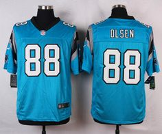 Men's Nike Carolina Panthers #88 Greg Olsen Blue Elite Jersey