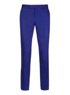 Bright Blue Smart Skinny Fit Pants