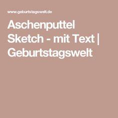 Aschenputtel Sketch - mit Text | Geburtstagswelt