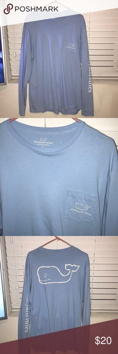 Men's Large Long sleeve Vineyard Vines shirt. Like brand new. Only worn once. Was ordered directly from Vineyard Vines website. Could easily be worn by a guy or girl. Vineyard Vines Shirts Tees - Long Sleeve