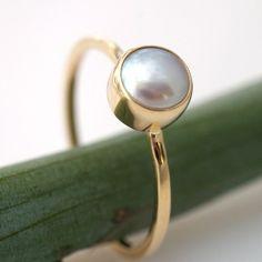Modern Engagement Or Stacking Ring