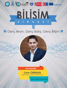 3 Mayıs 2017 Çarşamba günü Uludağ Üniversitesi'nin düzenlemiş olduğu Bilişim Zirvesi'nde Sosyal Medya Pazarlaması Eğitimi vereceğim. http://www.seoakademi.com.tr http://www.cemorman.com.tr