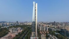 US architecture studio Morphosis has unveiled the 359-metre-tall Hanking Center supertall skyscraper in Shenzhen, China, which has a detached structural core. Morphosis Architects, Zaha Hadid Architects, Putin House, Cities, Urban Fabric, Glass Facades, World Records, How To Level Ground, Urban Landscape