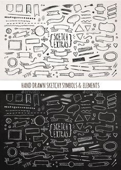 Hand Drawn Sketchy Elements Vector EPS. Download here: https://graphicriver.net/item/hand-drawn-sketchy-elements/11814097?ref=ksioks