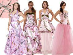 31 Camo Wedding Dresses and Bridesmaid Dresses | TheKnot.com                                                                                                                                                                                 More