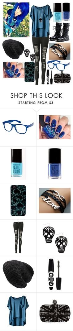 """""""~Electric Emo Blue~"""" by raianna-starz ❤ liked on Polyvore featuring Retrò, Forever 21, Marc by Marc Jacobs, Boohoo, Mes Demoiselles..., Rimmel, Alexander McQueen, Dark, emo and blackboots"""