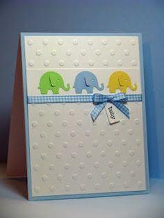 baby card - elephants