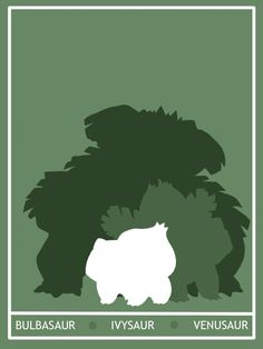 Pokemon Bulbasaur - Venusaur Minimalist Poster by ~Mr-Saxon on deviantART