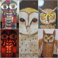 Brown Paper Bag Owls with Sharpies.It's a Good thing! High Art, Jr High, Elementary Art Rooms, Winter Art Projects, 5th Grade Art, Middle School Art, Art Programs, Autumn Art, Art Lesson Plans