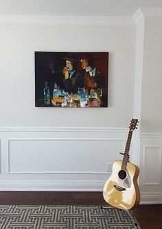 Original artwork by Peter Panov from Crescent Hill Gallery in a client's home Original Artwork, The Originals, Gallery, Painting, Home, Roof Rack, Painting Art, Ad Home, Paintings