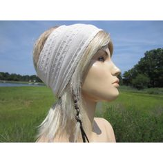 Wide Hair Band Knit Headband Yoga Turban Hair Wrap Ivory Cream Stretch... ($22) ❤ liked on Polyvore featuring accessories, black, hair accessories, headbands & turbans, black jersey, knit jersey, bike jersey, striped jersey and black turban