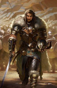 New Fantasy Warrior Concept Art Illustrations Ideas Fantasy Male, Fantasy Armor, Medieval Fantasy, Dark Fantasy, Fantasy Art Warrior, Dungeons And Dragons Characters, Dnd Characters, Fantasy Characters, Fantasy Character Design