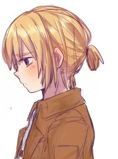Armin with a tiny ponytail! *screams because Armin is the cutest thing on earth* Anime Ai, Fanarts Anime, Anime Guys, Anime Characters, Kawaii Anime, Attack On Titan Hoodie, Attack On Titan Art, Len Y Rin, Last Exile