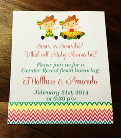 Fiesta Gender Reveal Party | Gender Reveal Ideas | Surprise Gender Reveal | Invitation