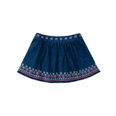 50% off everything at Happyology | Embroidered Denim Skirt