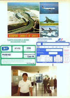 1983 Aug 12 PARIS CDG Airport - Air France AF-030 to Paris