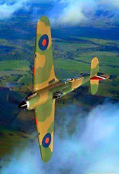 I love this view of this Hawker Hurricane. Ww2 Aircraft, Fighter Aircraft, Military Aircraft, Fighter Jets, Stonehenge, Spitfire Supermarine, Hawker Hurricane, Ww2 Planes, Aviation Art