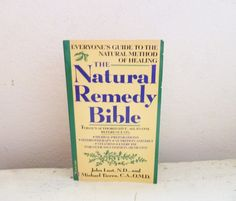 Natural Remedy Bible by John Lust and Michael Tierra 1990 edition paperback book home remedies ayurvedic treatments small book vintage by 6thandDurianVintage