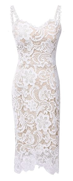 Amazon.com: Women Elegant Sweetheart Neck Lace Crochet Midi Bodycon Sheath Waist Dress: Clothing