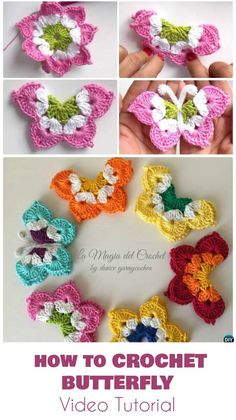 How to crochet butterfly - Video Tutorial