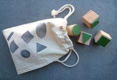 Rubber Stamp Set I love Geometry by karamelo on Etsy, €22.50