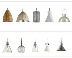 Great kitchen pendants from Shop Design Chic