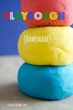 Easy DIY Homemade Playdough - recommended by a friend who actually made it :)