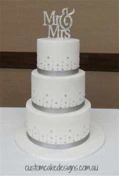 Mr & Mrs Wedding Cake  on Cake Central