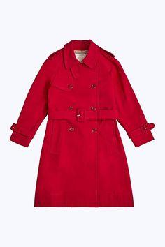 Marc Jacobs Shrunken Trench Coat in Red