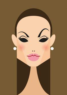Anjelina Jolie Ilustrações Stanley Chow Snap Point