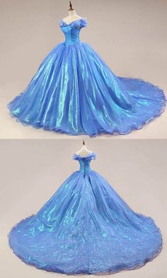 Tailor-Made 'Cindella' Gown £349.99 Sizes 6-22 available + 'custom-size' Choice of 100 colours Beautiful flowing train Satin, Beading & diamante's Please Allow 65 days to receive @ http://www.wemakeanydress.com