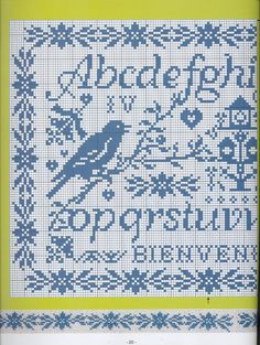 ru / Фото - Mains et Merveilles - - Labadee Cross Stitch Boarders, Cross Stitch Alphabet, Cross Stitch Samplers, Cross Stitch Flowers, Cross Stitch Charts, Cross Stitch Designs, Cross Stitching, Cross Stitch Patterns, Embroidery Sampler