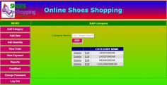 Online Shoes Shopping website project in asp.net c#