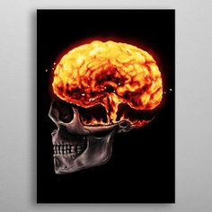 This marvelous metal poster designed by nicebleed to add authenticity to your place. Display your passion to the whole world.Displate is truly amazing licensed art printed on magnet-mounted metal. It's durable, it's steel. Wall Art Prints, Canvas Prints, Human Mind, Mind Blown, Canvas Art, Mindfulness, Fine Art, Cool Stuff, Power Tools