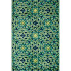 Skye Monet Green/ Multi Rug (3'9 x 5'2) | Overstock.com Shopping - The Best Deals on 3x5 - 4x6 Rugs