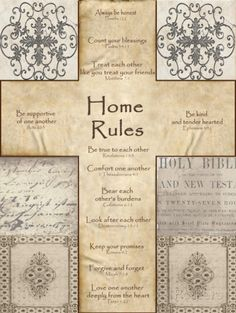 Home Rules Cross Prints by Lisa Wolk at AllPosters.com