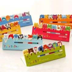 120 Page Cute Animal Sticker Post It Bookmark Marker Memo Index Tab Sticky Notes | eBay - love these!
