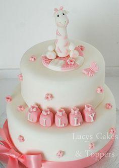 Handmade giraffe cake topper set | Flickr - Photo Sharing!