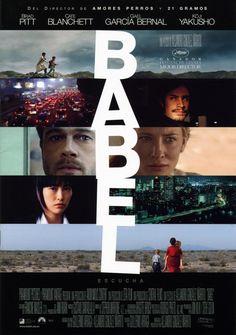 Babel(2006) Ambientada en Marruecos, Túnez, México y Japón. Armados con un Winchester, dos muchachos marroquíes salen en busca de su rebaño de cabras. En medio del desierto, deciden probar el rifle, sin conocer el alcance de la bala. En un instante, entran en colisión las vidas de cuatro grupos de personas que viven en tres continentes distintos. http://encore.ehu.es/iii/encore/record/C__Rb1615087__Sbabel__Ff%3Afacetmediatype%3Al%3Al%3ADVD%3A%3A__Orightresult__X5?lang=spi&suite=cobalt