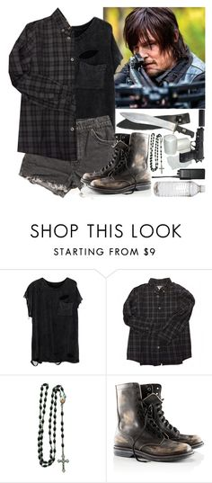 """""""Restocking food with Daryl (The Walking Dead)"""" by evil-maknae ❤ liked on Polyvore featuring Levi's, Bonpoint, Ultimate, Motorola, H&M, apocalypse, thewalkingdead, daryldixon, Daryl and Zombi"""